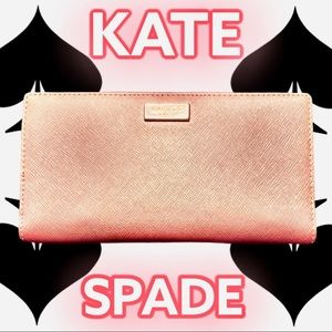 KATE SPADE NY ROSE GOLD LAUREL WAY STACY WALLET